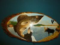 Unique Hand-carved & Painted Wood Plaques