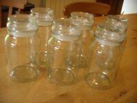 Stylish jars (Douwe Egberts coffee jars)