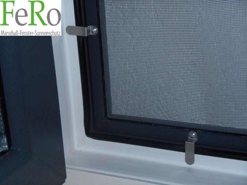 130cm x 150cm, 19mm Einh/ängewinkel Anthrazitgrau RAL7016 optimal f/ür Roll/äden M/ücken Fenster Fliegengitter Alu Insektenschutz