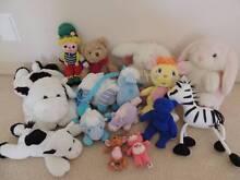 GORGEOUS bulk lot of 14 various stuffed teddies, cows, bunnies... Varsity Lakes Gold Coast South Preview