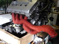 Audi S4 B6 B7 4.2 V8 RS4 B7 Longtube Tri-Y Header Exhaust Manifold Conversion