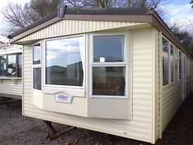 Static caravan Atlas Ruby Super 32 x 12 ft / 2 bedrooms, double glazing, electric blown air heating