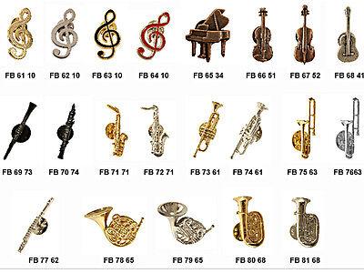 Ansteckpin Anstecker Musik Pins Pin Instrumente aus Metall 21 Motive Button