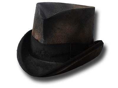 Sommerstrohhut Zylinder West Dusty Top Hat  schwarz