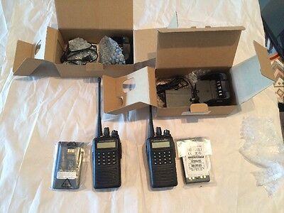 Vertex Vx 459 Uhf Radio 16Ch 450 512  Refub  Plus New Fnb 112Li Original Battery