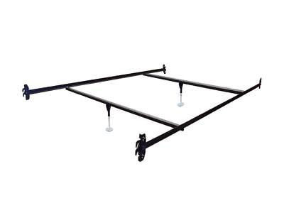 Bed Rails Queen Bed - Queen Size Hook on Bed Frame Rails with 2 Cross Beams with Leg Glides
