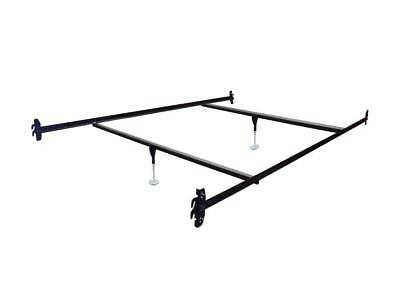 Queen Size Hook on Bed Frame Rails with 2 Cross Beams with