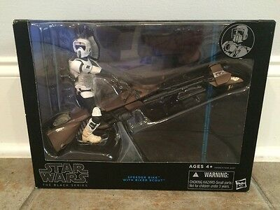 STAR WARS BLACK SERIES SPEEDER BIKE WITH 6
