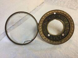 Antique 1800's Ornate Hinged Bezel & Dial For Open Escapement Mantel Clock