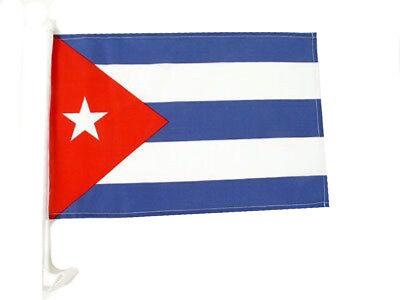 "(2 Pack) 12x18 Cuba Cuban Country Car Window Vehicle 12""x18"" Premium Flag"