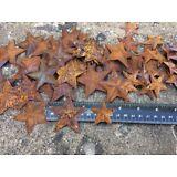 "Set 20 ~ Rusty Stars 10- 2.25"" & 10- 1.5"" Primtive Country Metal Barn Star Craft"