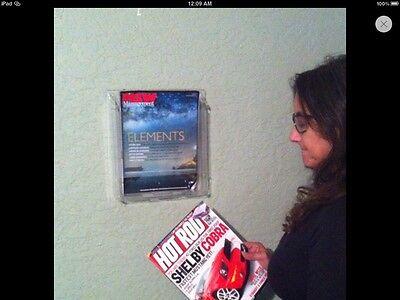 Color Optic Single Pocket Magazine Literature Display Rack Acrylic Wall Mount