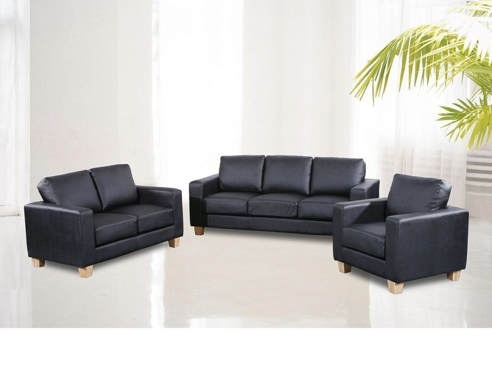 100 guaranteed price brand new luxury italian bonded leather sofa set3 2 1 seater complete. Black Bedroom Furniture Sets. Home Design Ideas