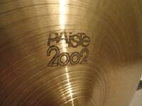 "Paiste 2002 20"" Ride cymbal 1980 vintage Black Label logo"