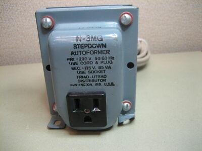 Triad N-3mg Auto Transformer Step Down Primary 230v Sec 115v