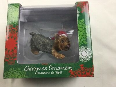 Sandicast Crouching Yorkshire Terrier Christmas Ornament CUTE ()