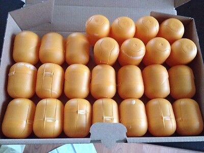 25 leere Ü-Ei Kapseln von Ferrero ,basteln Hochzeit Aufbewahren Tombola orange