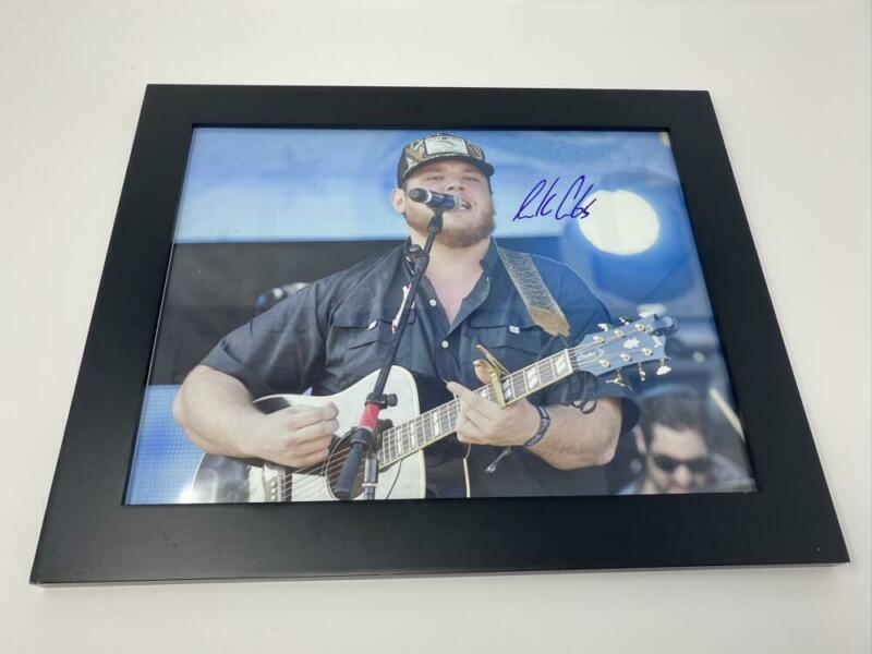 LUKE COMBS SIGNED AUTOGRAPH 11X14 PHOTO FRAMED - WHAT YOU SEE IS WHAT YOU GET B