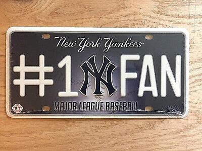 New York Yankees #1 Fan Metal Novelty License Plate Car Truck Tag MLB Baseball