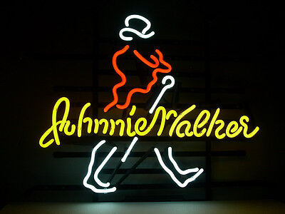 Johnnie Walker Neon Sign Beer Bar Pub Mancave Garage Whiskey Gift Custom Z269