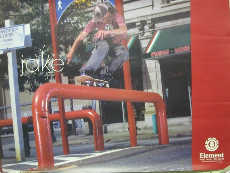 Jake Rupp 200? Element Skateboard promotional poster Excellent New Old Stock