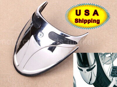 Chrome Fender Extension Mud Flap Trim Narrow For Harley Sportster Softail Dyna