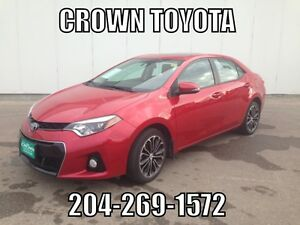 TOYOTA CERTIFIED! 2014 TOYOTA COROLLA S! CLEAN CARPROOF! ONE OW