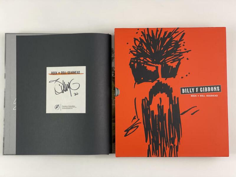 "BILLY GIBBONS SIGNED AUTOGRAPH ""ROCK + ROLL GEAR HEAD"" BOOK - ZZ TOP LEGEND!"