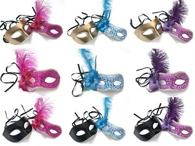 Couple Masquerade Costume Dress up Ball Prom New Year Mardi Gras Party Mask Pair - Couple Dress Up