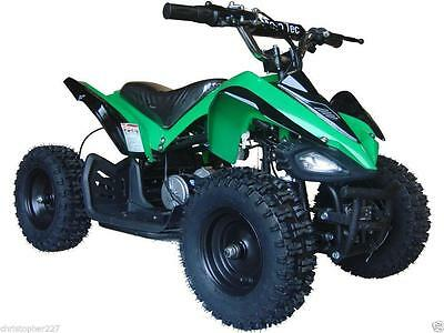Four Wheeler For Kids ATV Green Mini Quad Dirt Bike Ride On Electric Battery 24V