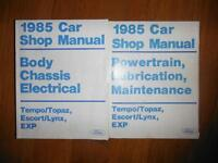 1985 Ford Tempo, Topaz, Escort, Lynx, EXP Factory Shop Manuals