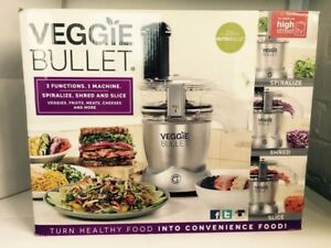 Veggie bullet food processor and spiralizer.