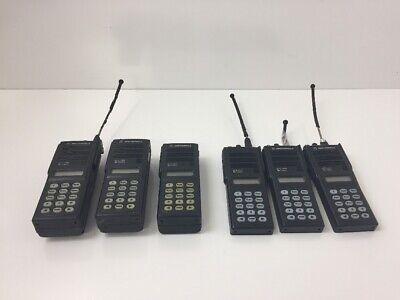Lot Of 6 Motorola Mts2000 Flashport Two Way Radios With 3 Batteries