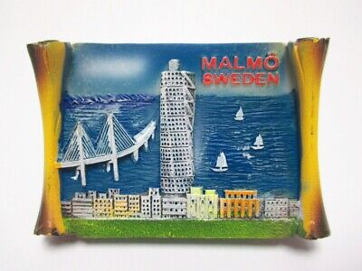 Malmö Imán Torneado Torso Puente Rollo Souvenir Poli Suecia