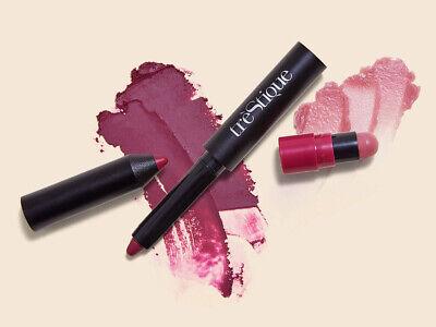 25x Trestique Matte Color & Shiny Balm Lip Crayon Belize Bordeaux Full Size