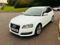 Audi A3 sportback TDI white 2011 5 door NOT leon golf gtd 320d 120d 118d polo ibiza astra focus