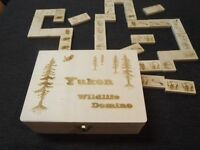 Yukon Made Domino Game with Wildlife Theme