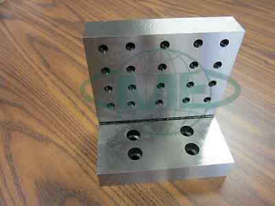 Angle Plate 6x6x4x1-14 Precision Ground W. Tapped Holes 0.0002 Pgap-664-new