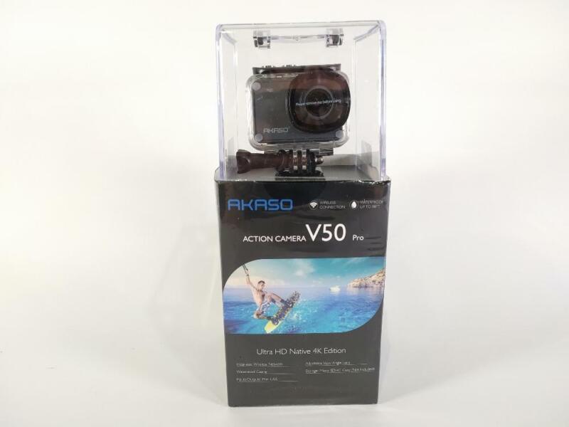 AKASO V50 Pro Native 4K30fps 20MP WiFi Action Camera -Pre-owned