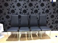 SET OF FOUR DINING CHAIRS **BRAND NEW**