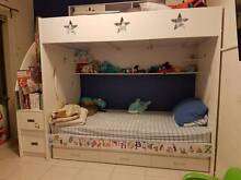 Single Bunk bed with storage + under bed trundle + mattresses West Croydon Charles Sturt Area Preview