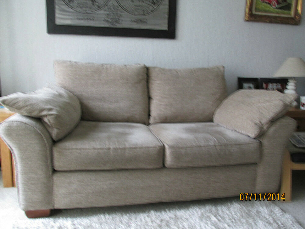 Next Garda 3 Seater Sofa And Armchair Colour Mink Reduced