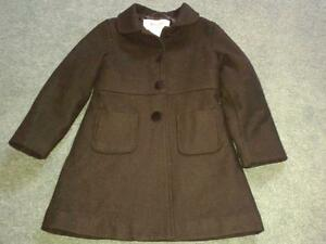 Little Girls Please Mum Black Dress Coat, size 5/6