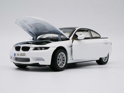 2008 BMW M3 WHITE 1:24 SCALE  DIECAST COLLECTOR  MODEL CAR