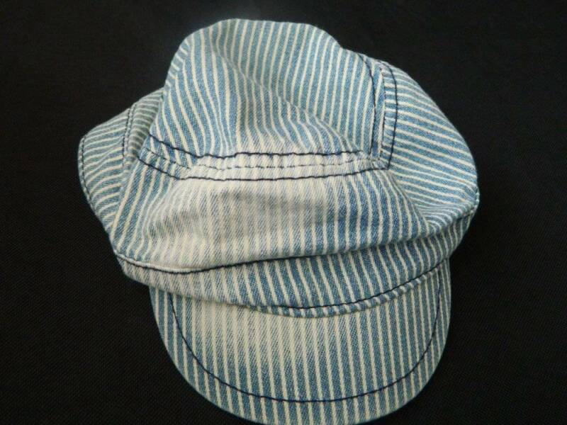 NEW Toddler Boys Childrens Place Railroad Conductor Cap Hat  6/12 mo Has Defect