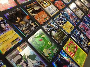 Pokemon TCG : 100 CARD LOT RARE, COMMON, UNC, HOLO & GUARANTEED EX OR RARE HOLO