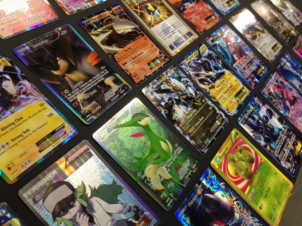 Pokemon Card Lot 100 OFFICIAL TCG Cards Ultra Rare Included - GX EX MEGA + HOLOS 1