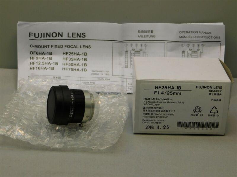 Fujinon HF25HA-1B F1.4/25mm C Mount Automation Machine Vision Lens New in Box