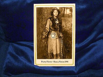 PRETTY FLOWER Seneca Indian Beauty Cabinet Card Photograph Vintage Lovely CDV