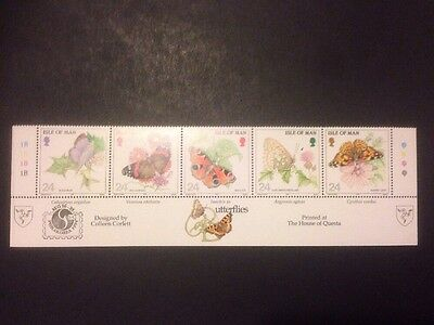 Isle Of Man - 1993 Butterflies SG573/7 Mint In Strip (a117)